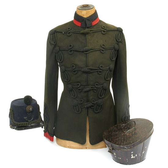 Original British Pre-WWI Shako and Tunic Set from the King's Royal Rifle Regiment c.1905