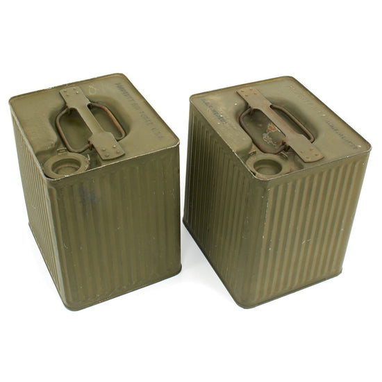 Original U.S. WWII 1942 Army Air Force 5 Gallon Gasoline Cans - Model G C 100 Item No 1