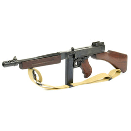 Original U.S. WWII Thompson M1928A1 Display Submachine Gun Serial AO 104341 with Sling - Original WWII Parts