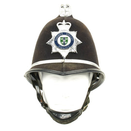 Original British Comb Top Bobby Helmet from the Thames Valley Police (Oxford) c.1990