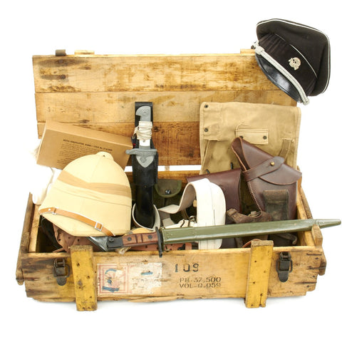 Trunk of Assorted Grade 2 Original Military Antiques and Reproductions - Box 1 Original Items