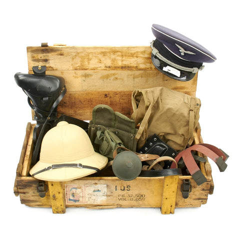 Trunk of Assorted Grade 2 Original Military Antiques and Reproductions - Box 4