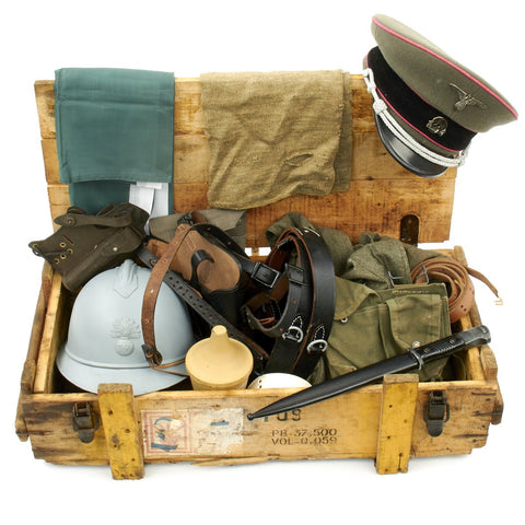 Trunk of Assorted Grade 2 Original Military Antiques and Reproductions - Box 5