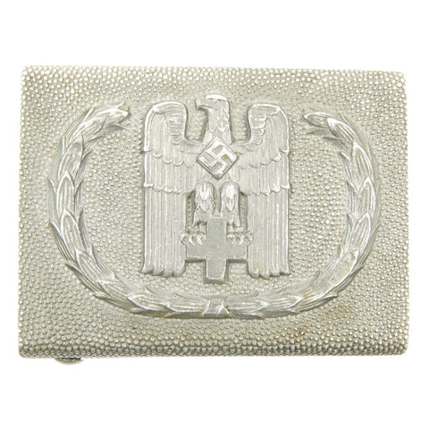 Original German WWII Red Cross DRK Aluminum Belt Buckle by Overhoff & Cie., Lüdenscheid.