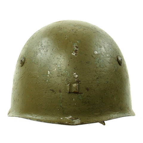 Original WWII Italian M33 Service Worn Helmet Original Items