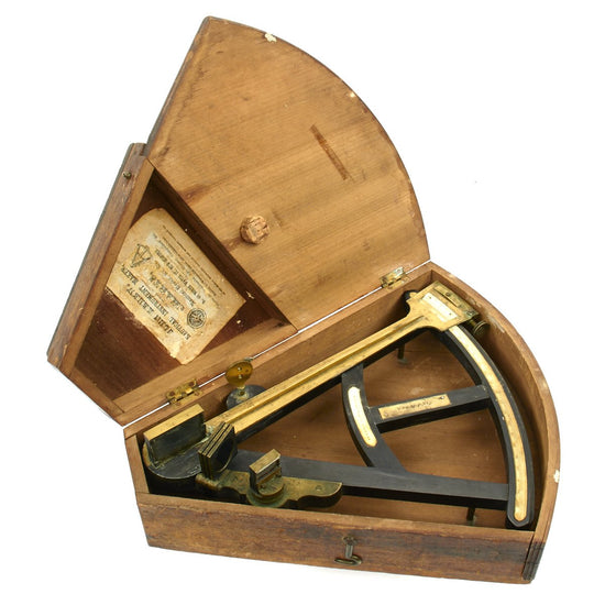 Original British Ship's Octant by Spencer & Co. London - Sold in Massachusetts and Named to Capt. J. Jones
