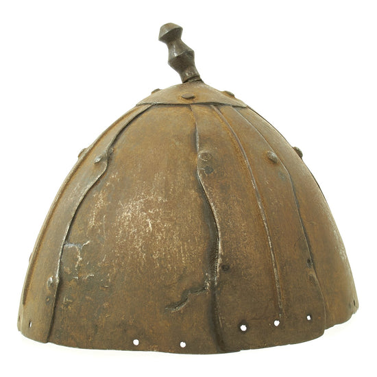 Original Tibetan Iron Plate War Helmet - Circa 1650 Original Items