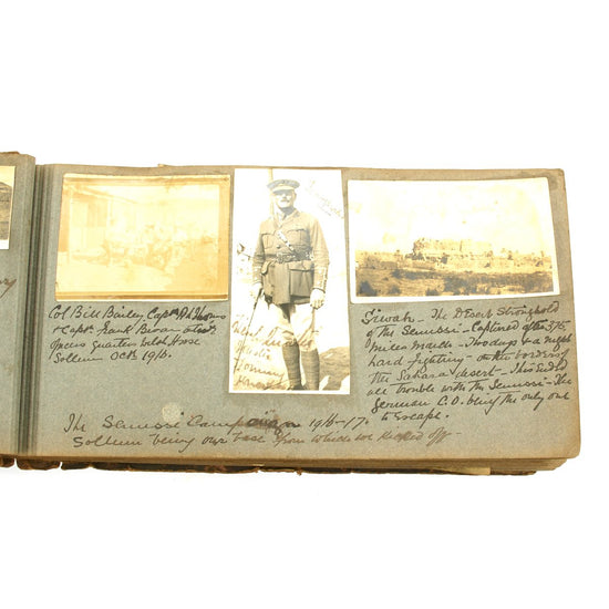 Original British WWI Personal Annotated Photo Album of Doctor Capt. R.L. Thomas of the Welsh Horse