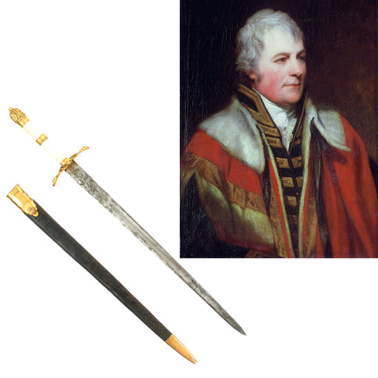 Original British Napoleonic Naval Dirk of Rear Admiral William Carnegie Lord Northesk Third in Command at Trafalgar Original Items