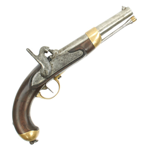 Original French Mle 1822 Flintlock Percussion Pistol made at Mutzig Arsenal - dated 1856