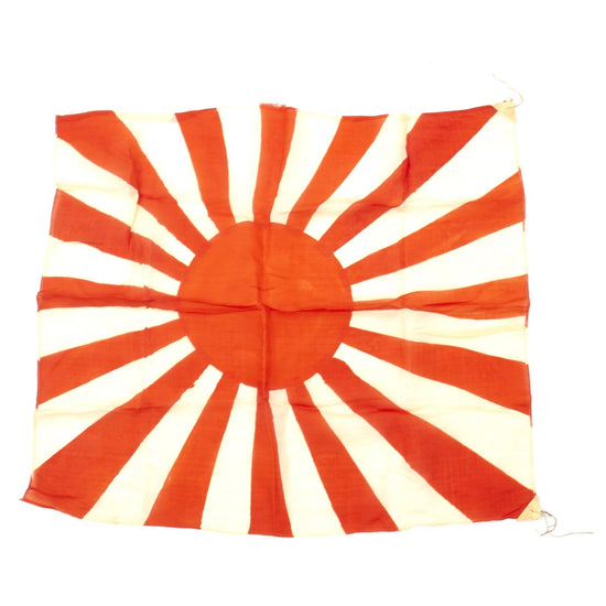 Original Japanese WWII Silk Rising Sun Army War Flag