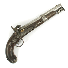 Original U.S. M-1826 Flintlock Navy Belt Pistol Converted to Percussion by Simeon North - dated 1827