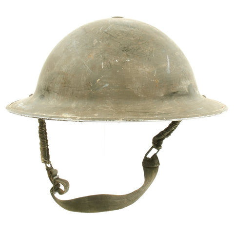 Original Canadian WWII Brodie MkII Steel Helmet by Canadian Motor Lamp Co. - Dated 1942