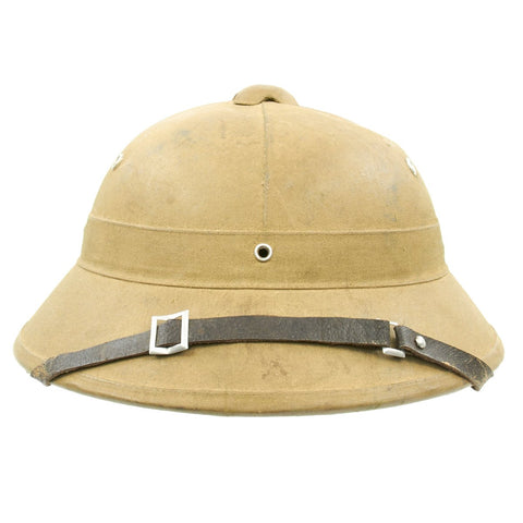 Original Vietnam War North Vietnamese Army Viet Cong Pith Sun Helmet with Label Original Items