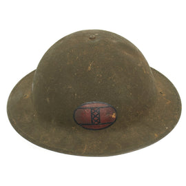 Original U.S. WWI M1917 30th Infantry Division Officer's Doughboy Helmet with Hawkes & Co. Liner dated 1917
