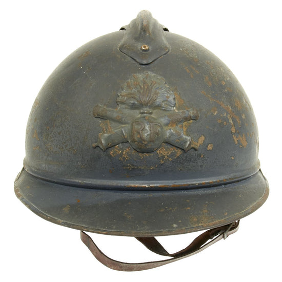 Original French WWI M1915 Adrian Helmet with Artillery Badge - Horizon Blue