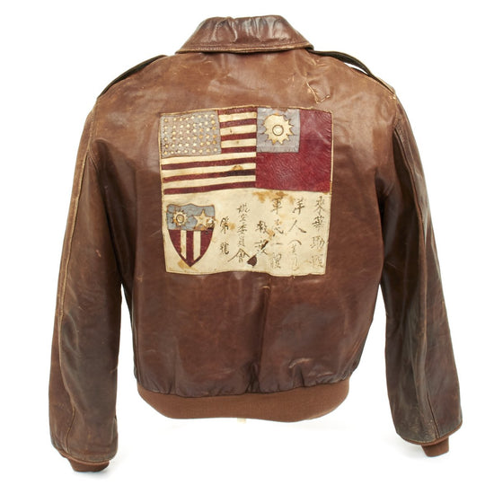 Original U.S. WWII B-25 Bomber Pilot Italy and CBI A-2 Flight Jacket 81st Bomb Squadron with Blood Chit