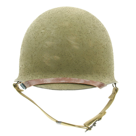 Original U.S. WWII 1944 Unissued M1 McCord Front Seam Swivel Bale Helmet with Westinghouse Liner Original Items
