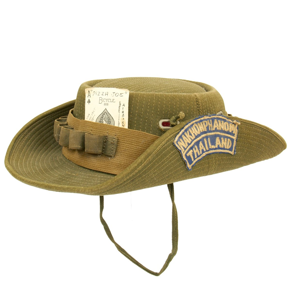 8a8b2eca100 Tap to expand · Next · Original U.S. Vietnam War Slouch Boonie Hat with  Rocker Patch - Nakhon Phanom Thailand