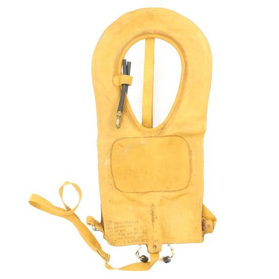 Original U.S. WWII USAAF Mae West Pneumatic Life Vest by New York Rubber Corp. - April 1945