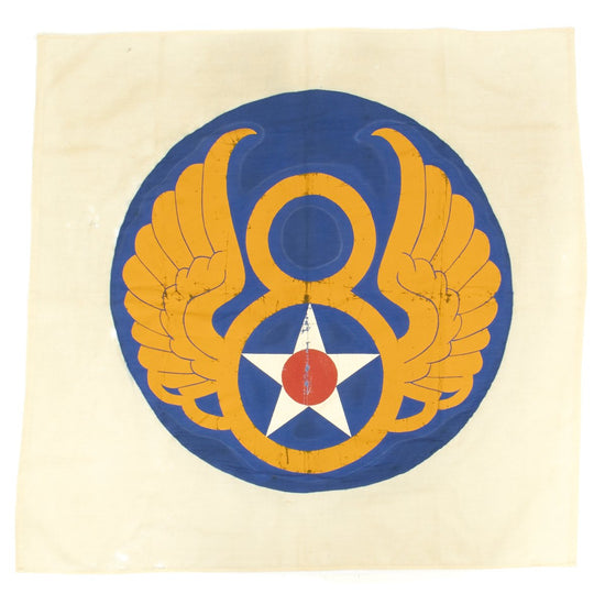 Original U.S. WWII 8th Air Force Hand Painted Flag Banner