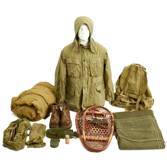 Original U.S. WWII 10th Mountain Division Alpine Equipment Grouping Original Items