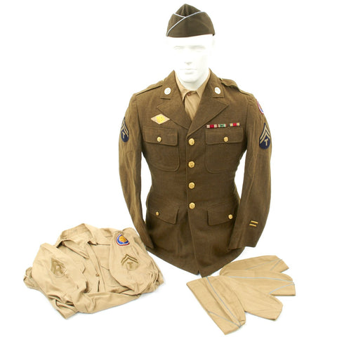 Original U.S. WWII 106th Infantry Division St. Vith Battle of the Bulge POW Named Uniform Grouping with Interview Original Items