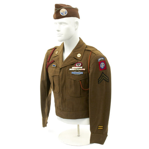 Original U.S. WWII 513th PIR Battle of the Bulge and Operation Varsity Named Uniform Grouping Original Items