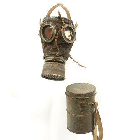 Original Imperial German WWI Gas Mask with Can - Dated January 1918