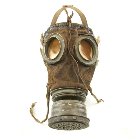 Original Imperial German WWI M1917 Ledermaske Gas Mask with Can - Dated 1917 Original Items