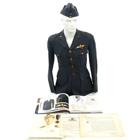 Original U.S. WWII RAF Fighter Pilot 26 Channel Missions USN Air Force Named Grouping Original Items