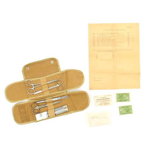Original U.S. WWII Medical Officer's Case Field Surgical Kit Roll - Complete and dated 1944 Original Items