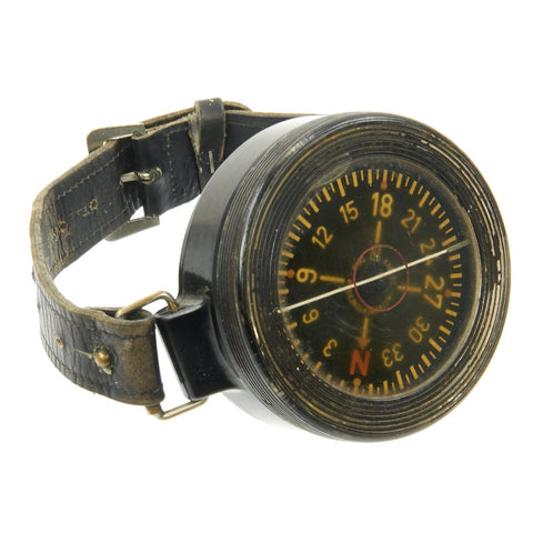 Original WWII German Luftwaffe Aviator Early Model AK 39 Wrist Compass by Kadlec