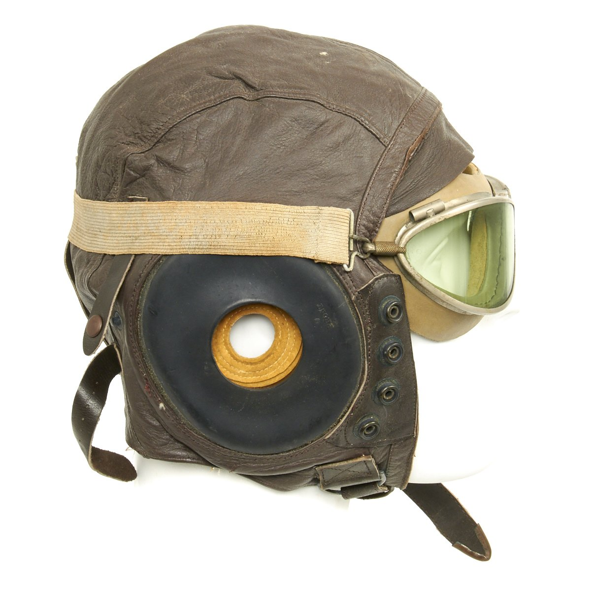8e0ece32e01 Original U.S. WWII Army Air Force Aviator Flight Helmet Set - Type A-11  Helmet