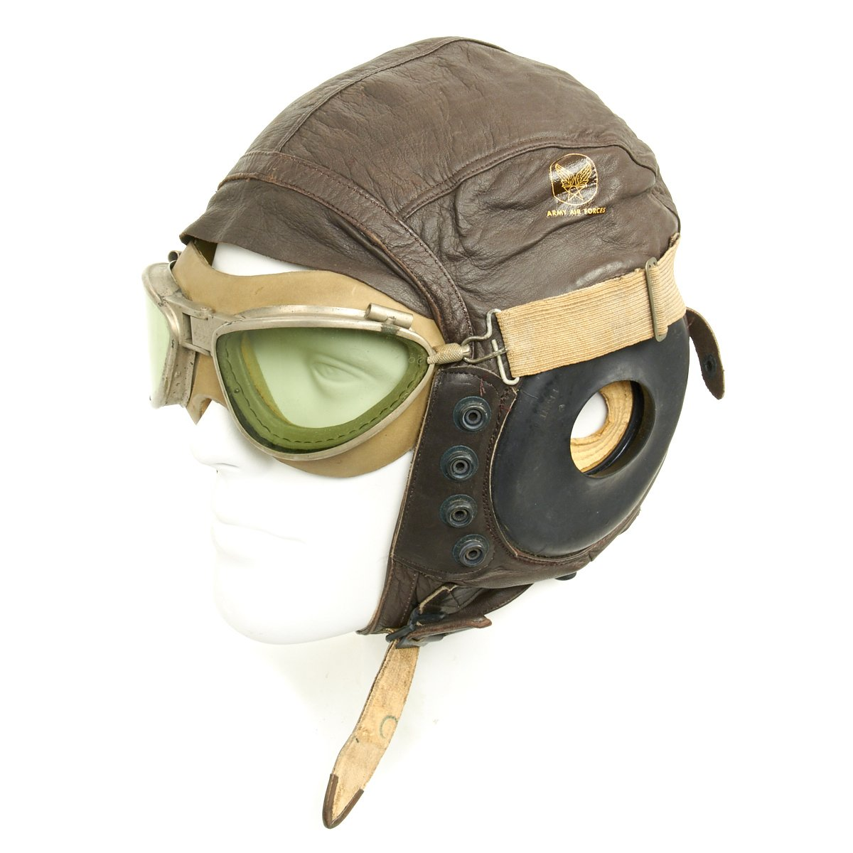 Original U S  WWII Army Air Force Aviator Flight Helmet Set - Type A