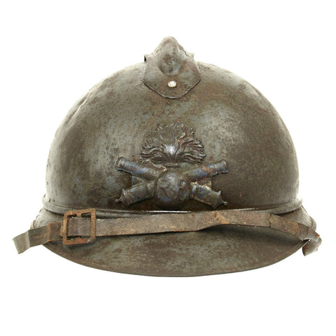 Original French Model 1915 Adrian Artillery Helmet in Horizon Blue
