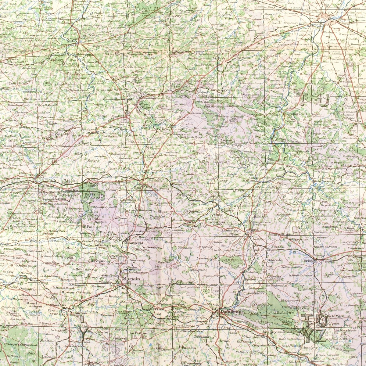 Map Of Normandy France Detailed.Original U S Wwii D Day Map Of Normandy Cherbourg And Caen France