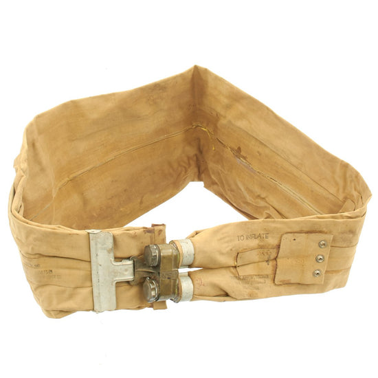 Original U.S. WWII M1926 D-Day Inflatable Flotation Belt Life Preserver by Firestone - Dated SEP 30 1942