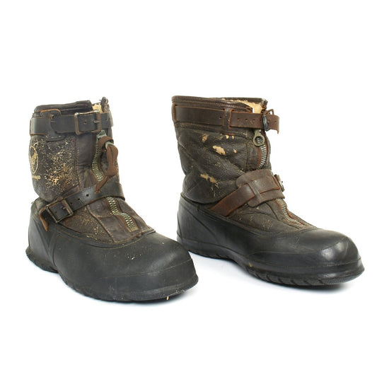 Original U.S. WWII Army Air Force Type A-6A Pilot Winter Flying Boots