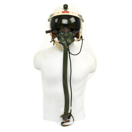 Original U.S. Cold War Named USAF Helmet Flying Type P-4B with Oxygen Mask and Bag