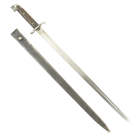 Original Swedish M1915 Naval Sword Bayonet by Eskilstuna for M1894/14 6.5mm Mauser Carbines Original Items