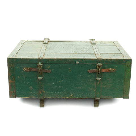 Original British Wooden Supply Chest with Iron Fittings for Pack Artillery No.2 - c.1880-1915