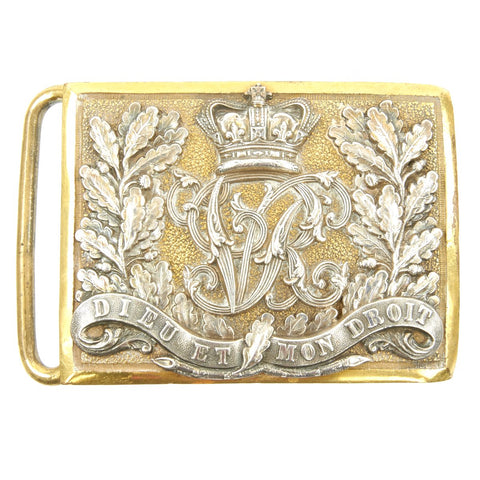 Original British Victorian General Service Ornate Belt Buckle for Officers - c.1880