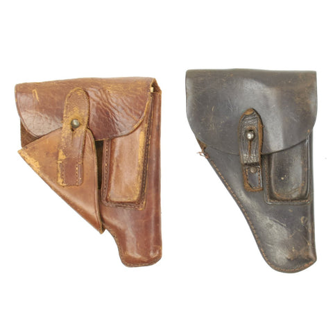 Original German WWII Set of Two Leather Holsters for the Walther PPK Pistol