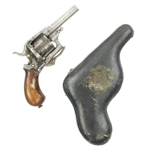 Original Victorian Belgian Pinfire Revolver in Hard Case named to British Special Constable Pollaky - c.1865 Original Items
