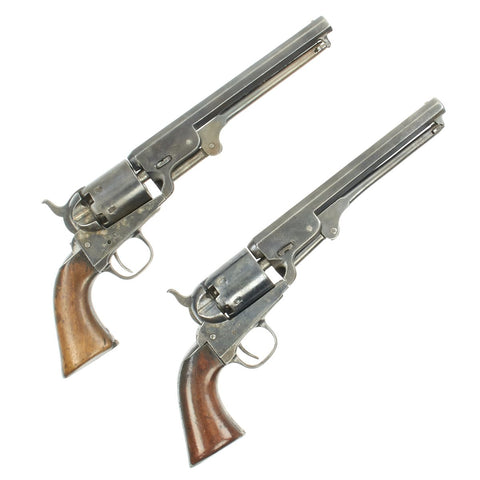 Original Pair of British-Proofed Colt Model 1851 Navy Percussion Revolvers - Manufactured in 1866 Original Items