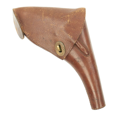 Original British Victorian Officer's Massive Brown Leather Holster - V.R. Marked Original Items