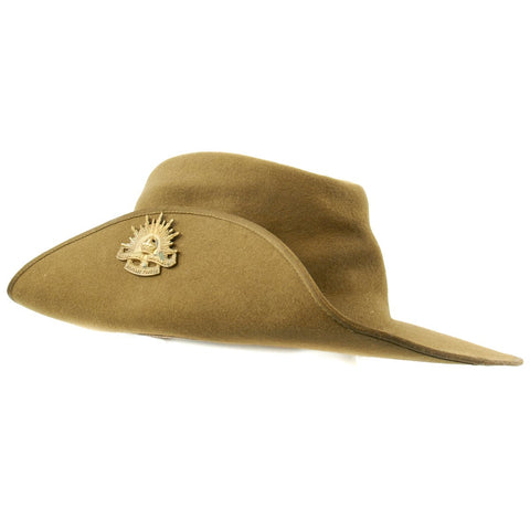 "Original WWII Australian Felt ""AKUBRA"" Slouch Hat by Dunkerley - as used in Southeast Asia"