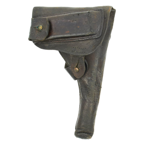 Original WWI-Era Spanish M1913 Campo-Giro 9mm Pistol First Model Softshell Brown Leather Holster