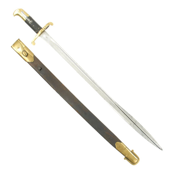 Original British P-1855 Sappers & Miners Quillback Sword Bayonet with Scabbard for Lancaster Carbine